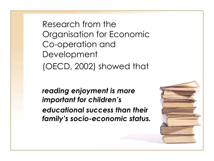 Research from the Organisation for Economic Co-operation and Development