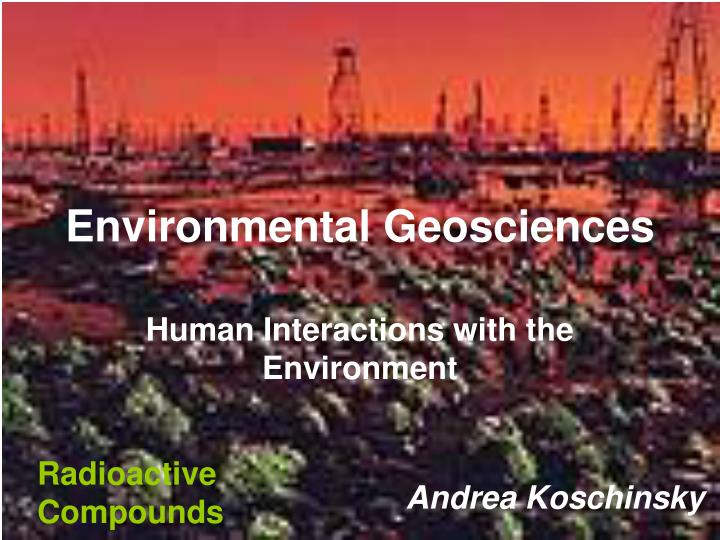 environmental geosciences n.