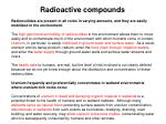 radioactive compounds15