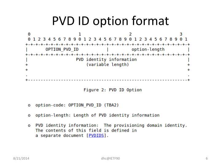 PVD ID option format