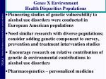 genes x environment health disparities populations
