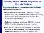 minority health health disparities and diversity training