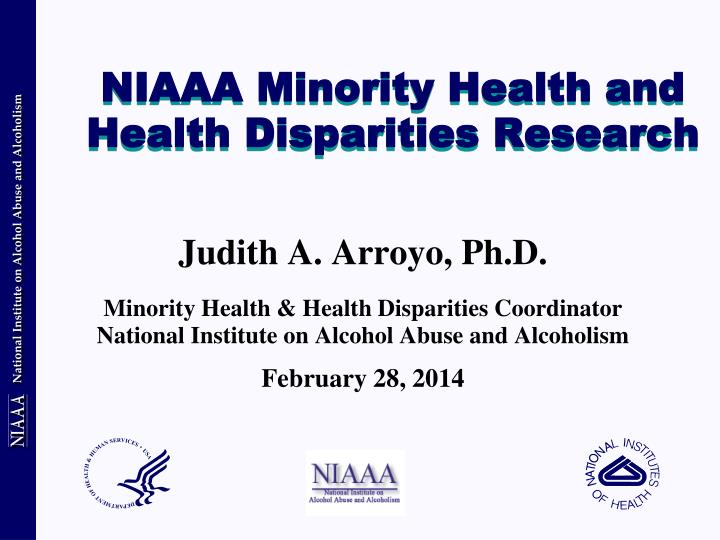 niaaa minority health and health disparities research