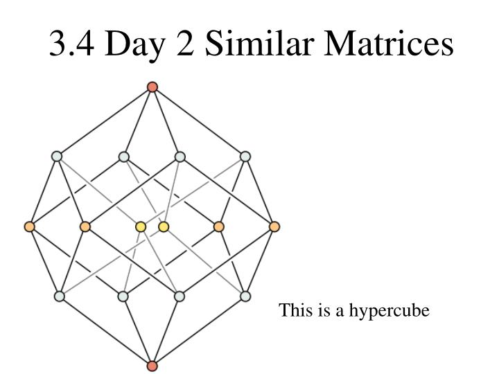 3 4 day 2 similar matrices n.