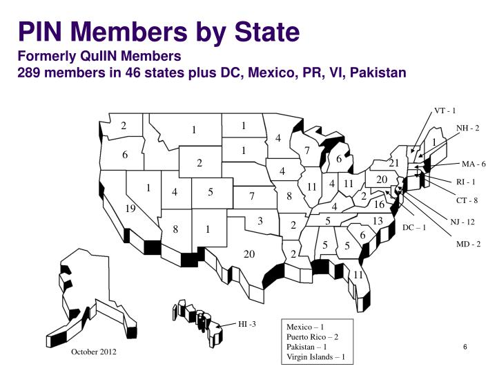 PIN Members by State