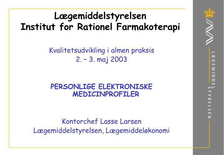 L gemiddelstyrelsen institut for rationel farmakoterapi