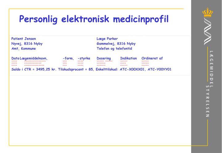 Personlig elektronisk medicinprofil