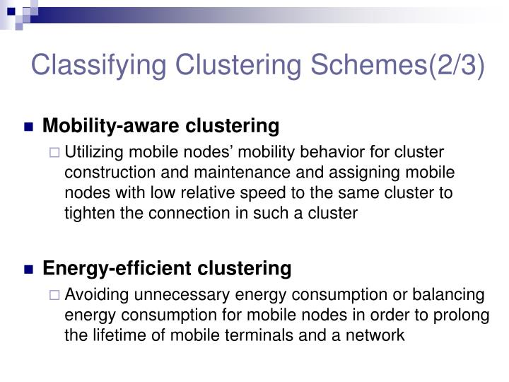 Classifying Clustering Schemes(2/3)