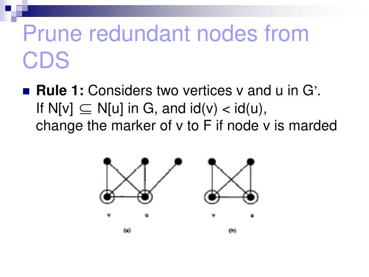 Prune redundant nodes from CDS