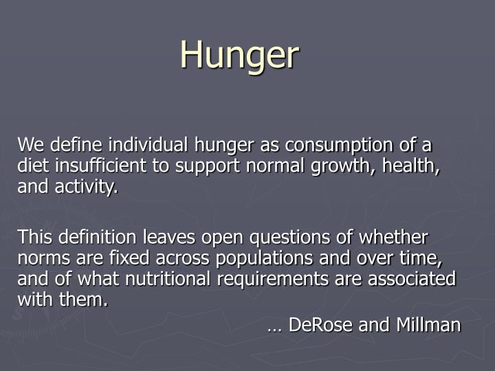 hunger n.