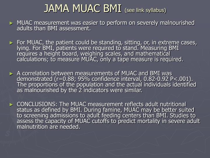 JAMA MUAC BMI