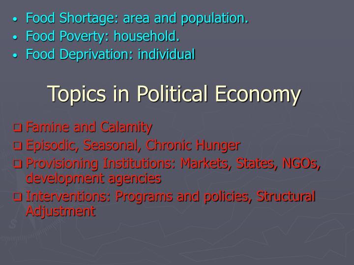 Topics in political economy