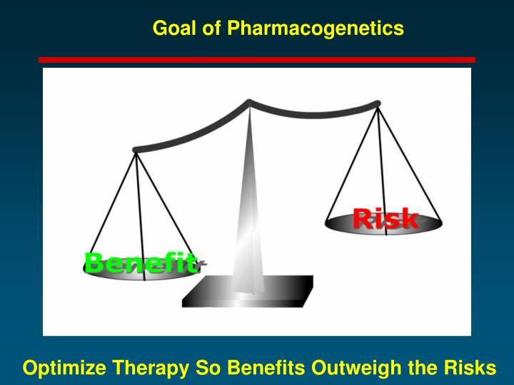 Goal of Pharmacogenetics
