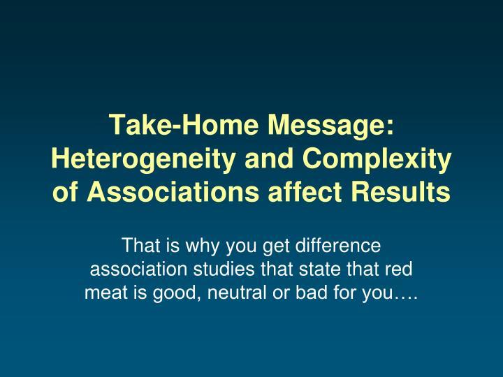 Take-Home Message: