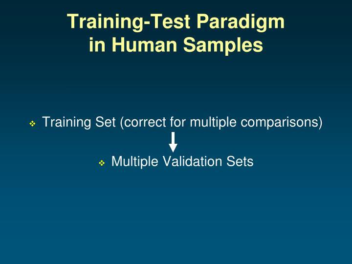 Training-Test Paradigm