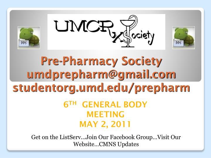 pre pharmacy society umdprepharm@gmail com studentorg umd edu prepharm n.