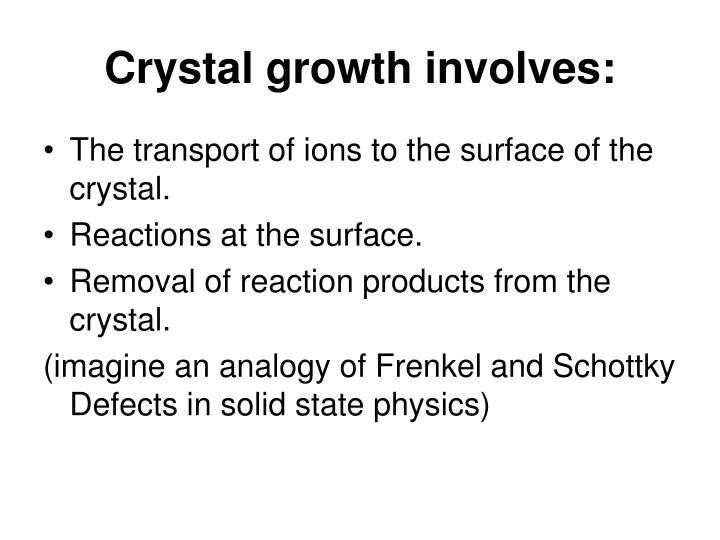Crystal growth involves:
