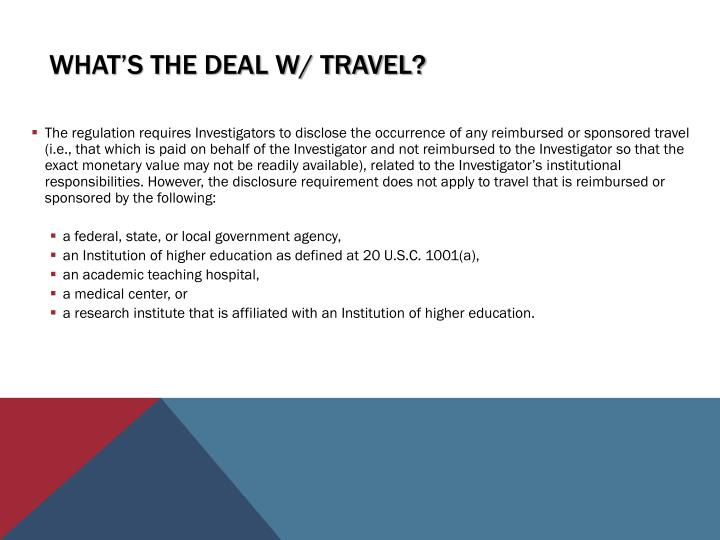 What's the deal w/ Travel?