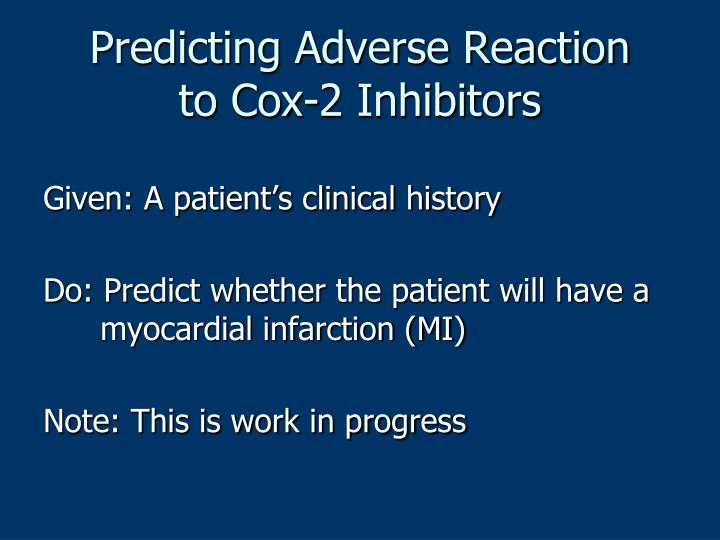 Predicting Adverse Reaction