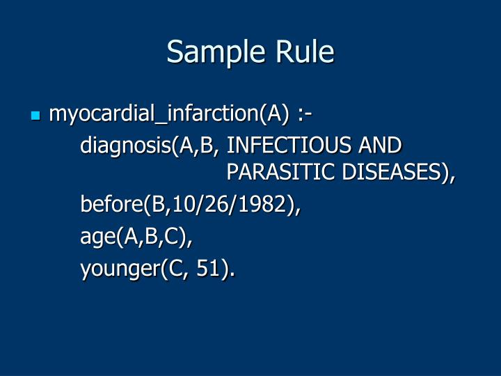 Sample Rule
