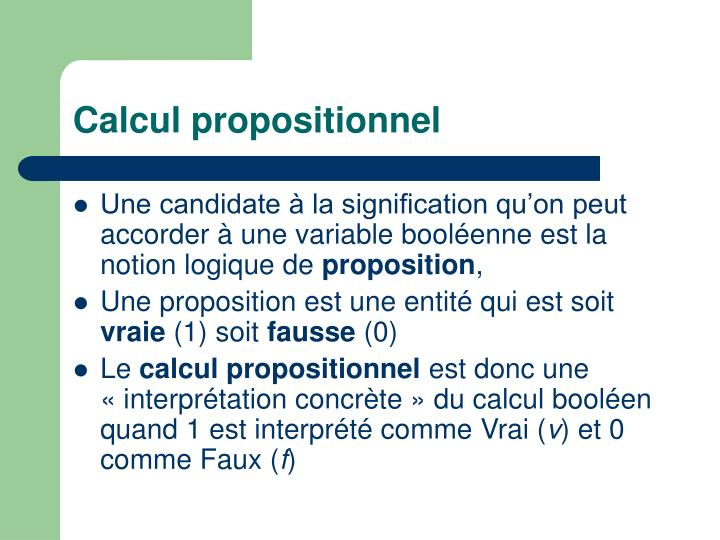 Calcul propositionnel1