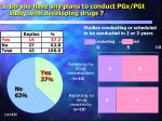 1 do you have any plans to conduct pgx pgt study with developing drugs