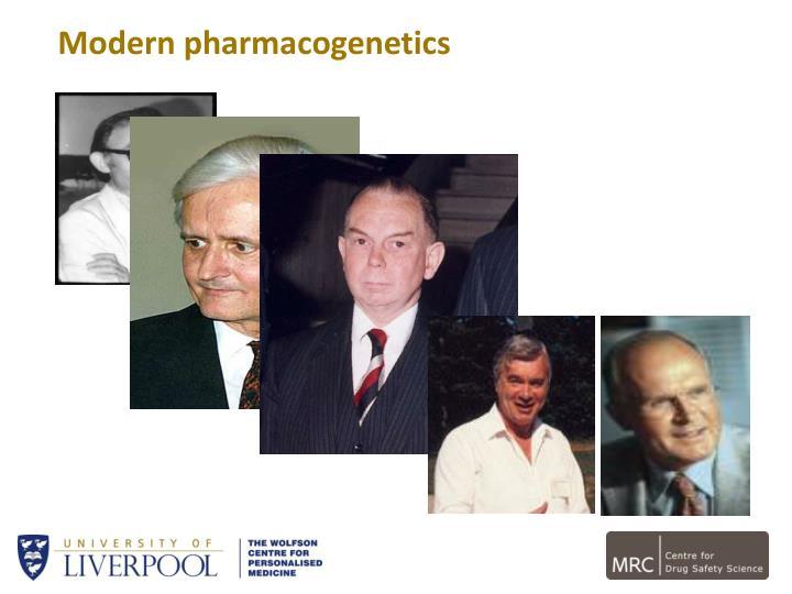 Modern pharmacogenetics