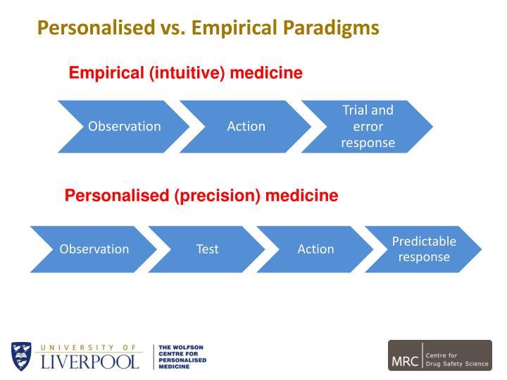 Personalised vs. Empirical Paradigms