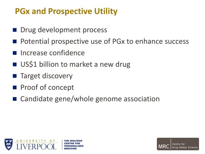 PGx and Prospective Utility