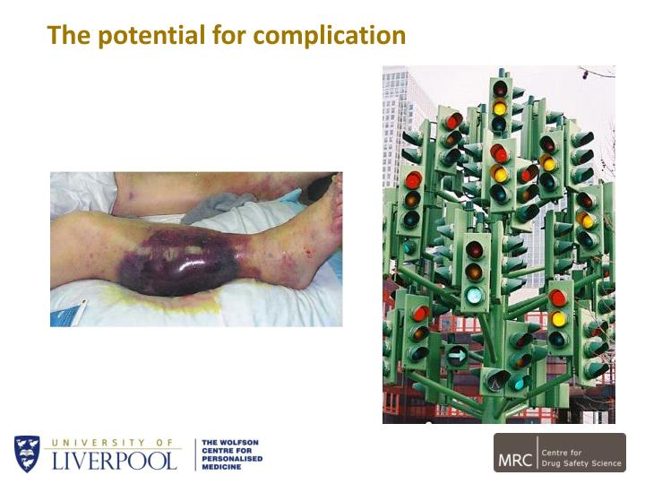The potential for complication