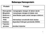 beberapa hemoprotein