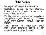 sifat porfirin