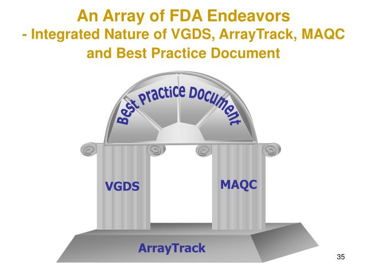 An Array of FDA Endeavors