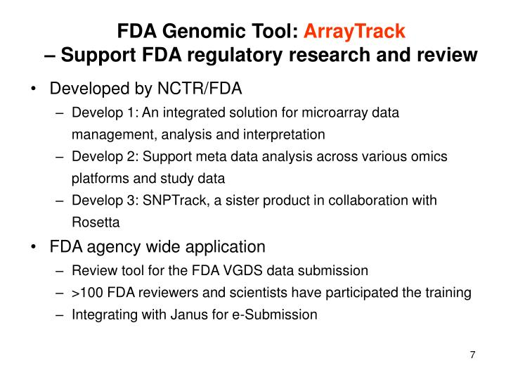 FDA Genomic Tool: