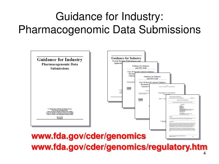 Guidance for Industry: Pharmacogenomic Data Submissions