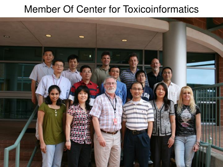 Member Of Center for Toxicoinformatics