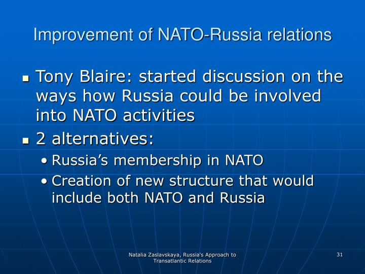 Improvement of NATO-Russia relations