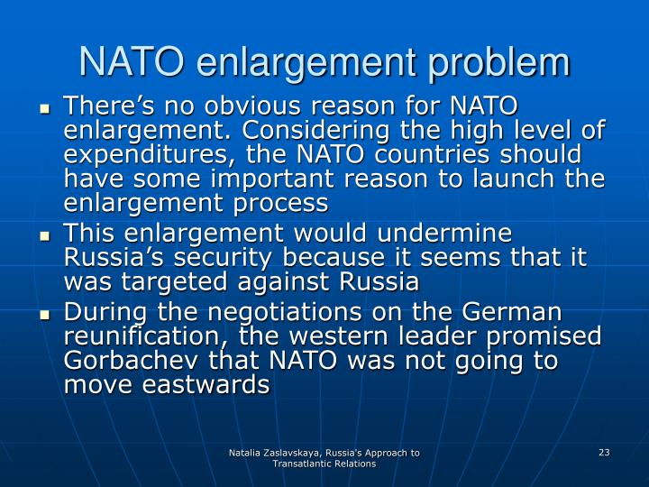 NATO enlargement problem