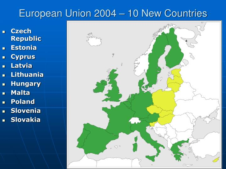 European Union 2004 – 10 New Countries