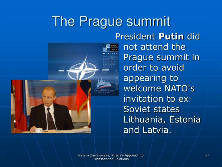 The Prague summit