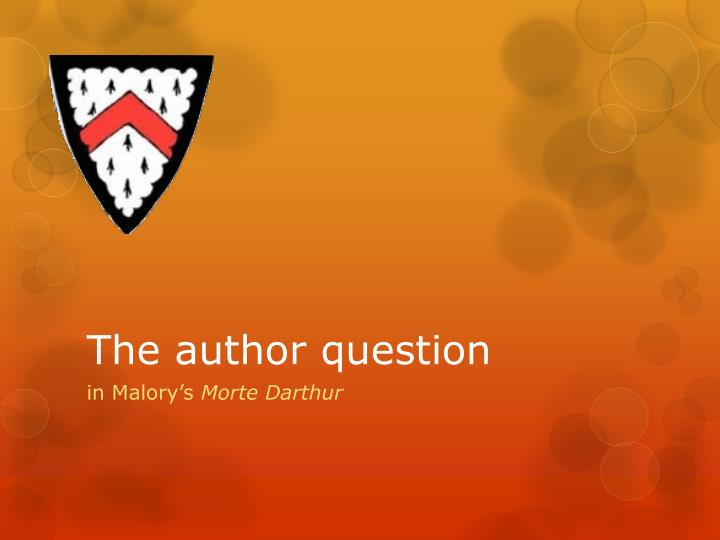 the author question