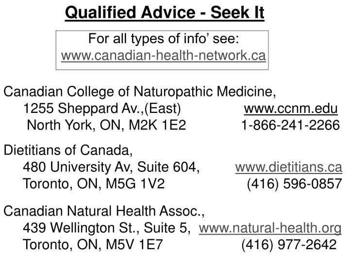 Qualified Advice - Seek It