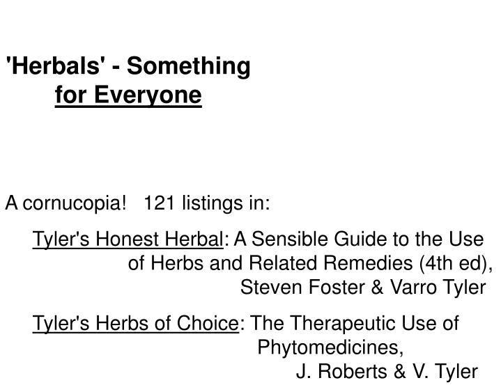 'Herbals' - Something