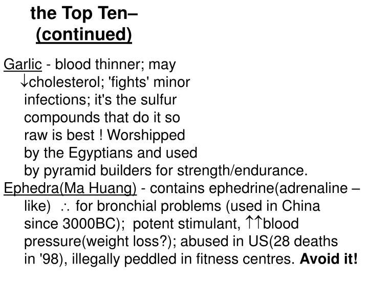 the Top Ten–