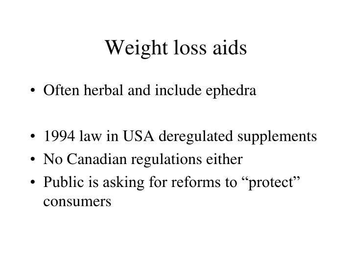 Weight loss aids
