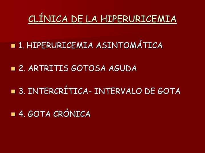 CLÍNICA DE LA HIPERURICEMIA