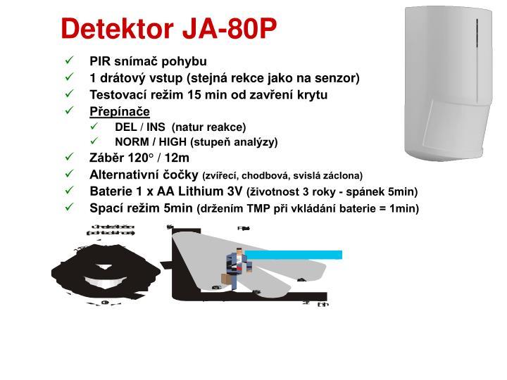 Detektor JA-80P