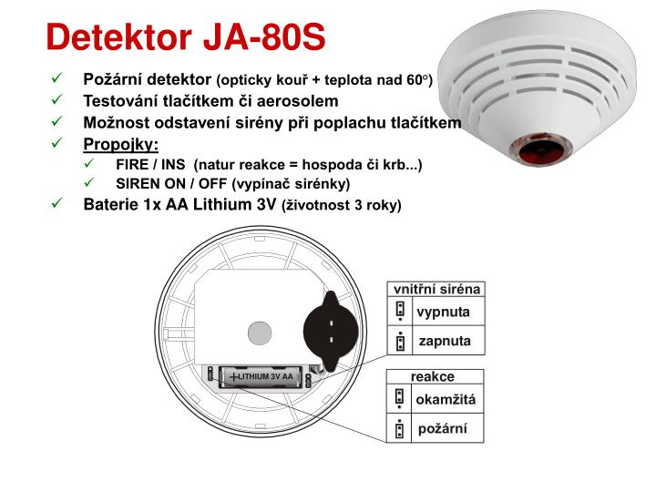 Detektor JA-80S