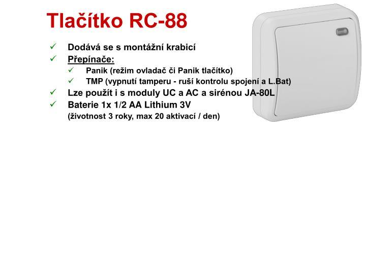 Tlačítko RC-88