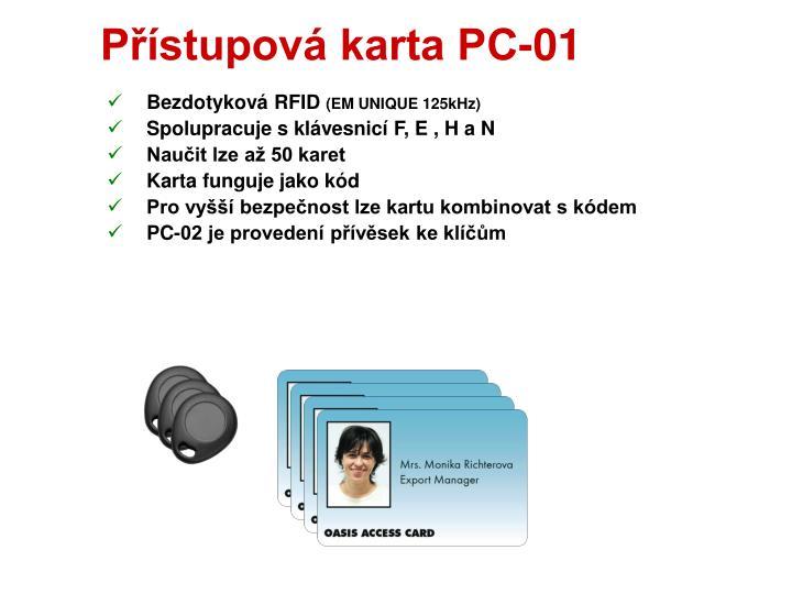 Přístupová karta PC-01
